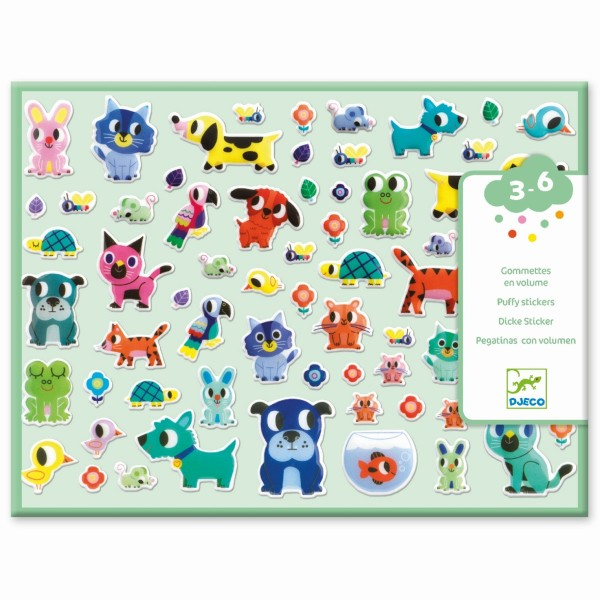 """100 Puffy-Sticker """"Meine kleinen Freunde""""  3-6 J"""