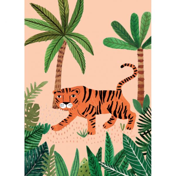 "Postkarte ""Savannen-Tiger"" Rebecca Jones"