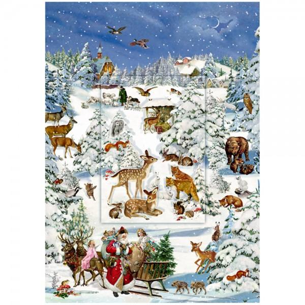 "Adventskalender ""Tiere in Schneelandschaft"""