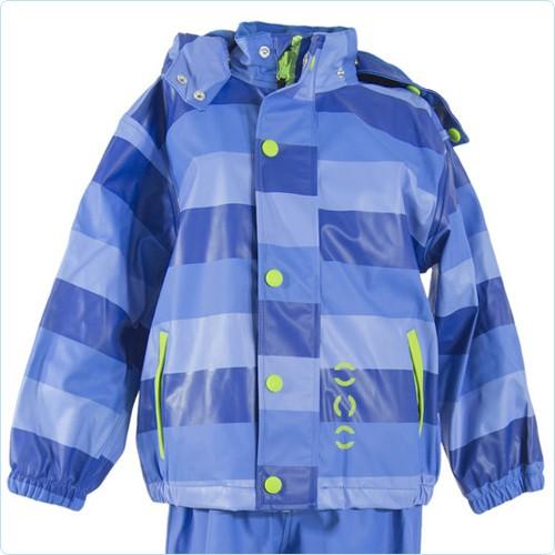 Regenjacke Streifen blau