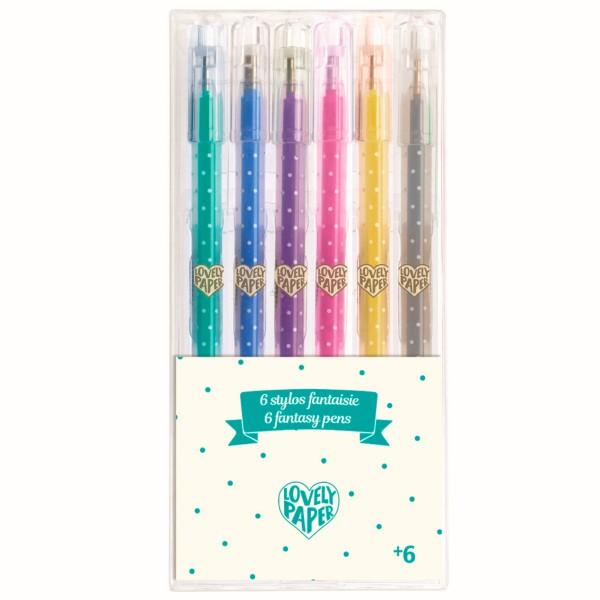 """6 Stifte """"Glitter-Gel"""" Lovely Paper"""