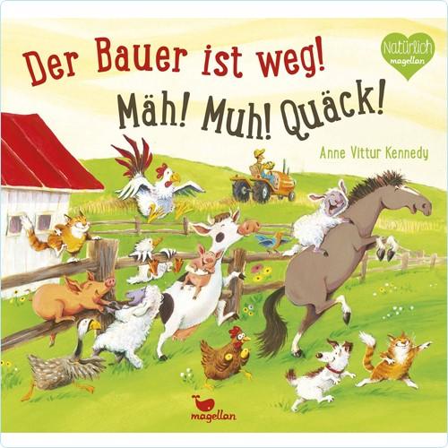 "Buch ""Bauer ist weg! Mäh! Muh! Quäck!"""