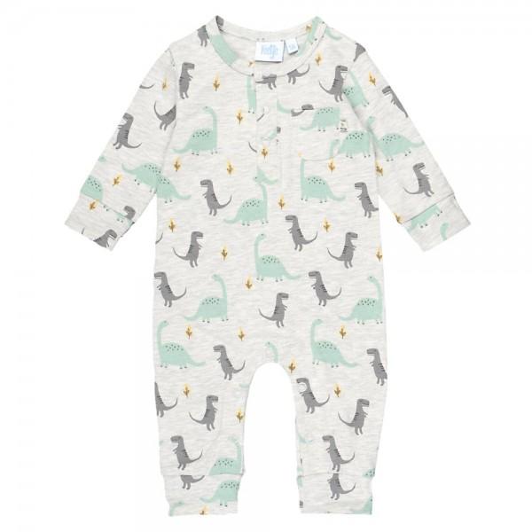 "Bio Baby-Overall ""Dino"" grau melange"
