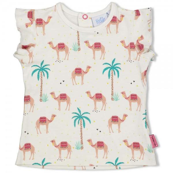 """Baby-Kurzarm-Shirt """"Hübsche Kamele"""" natur"""