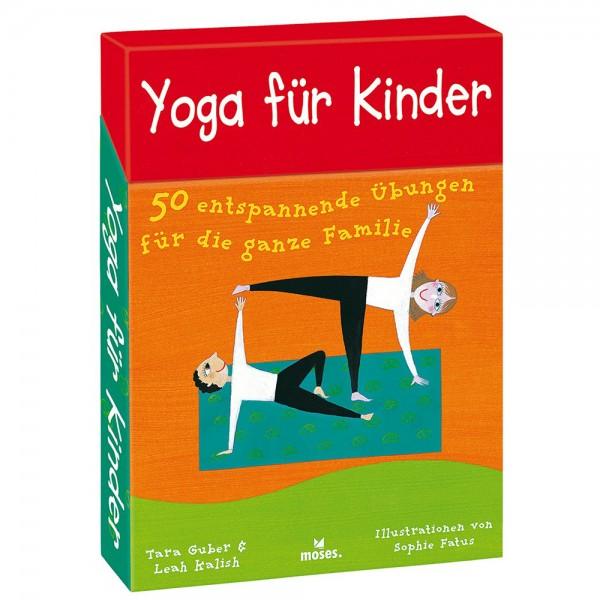 """""""Yoga für Kinder"""" 50 Karten mit Übungen in der Box"""