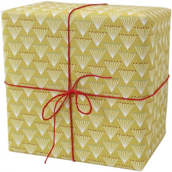 "Geschenkpapier ""Dolden"" gelb"