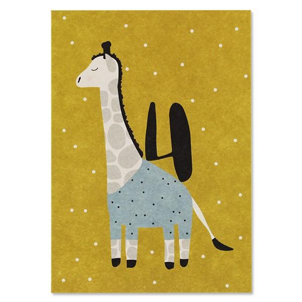 "Postkarte ""4 - Giraffe"""