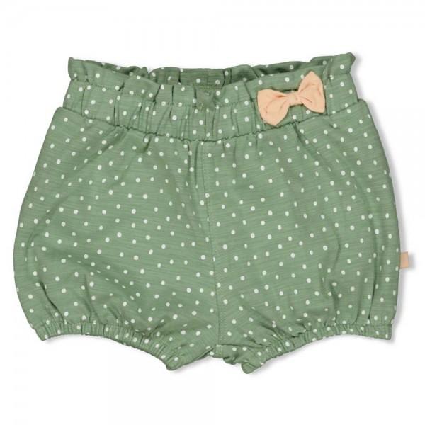 """Baby-Shorts """"Pünktchen"""" grün melange"""