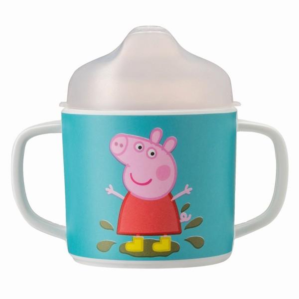 "Melamin-Henkeltasse mit Trinkdeckel ""Peppa Pig"""