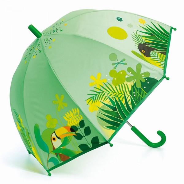 """Kinder-Regenschirm """"Tropischer Dschungel"""" grün"""