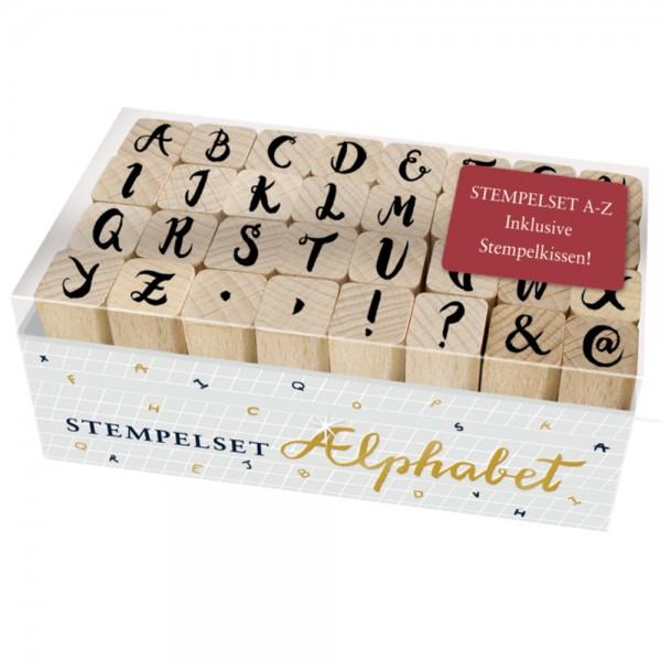 """Stempelset """"Buchstaben - BücherLiebe!"""" 32 Holzstempel"""