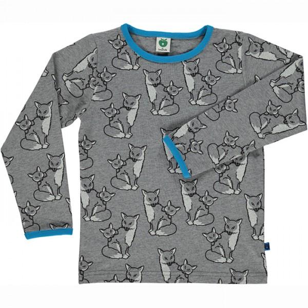 """Shirt """"Fuchs"""" graumeliert"""