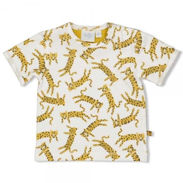 """Kurzarm-Babyshirt """"Go Wild - Tiger & Leoparden"""""""