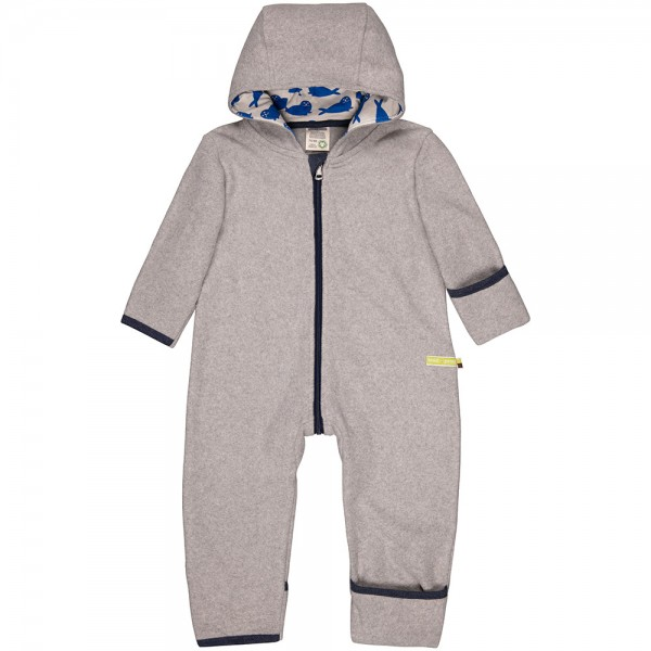 Fleece-Overall grey (Robben cobalt)