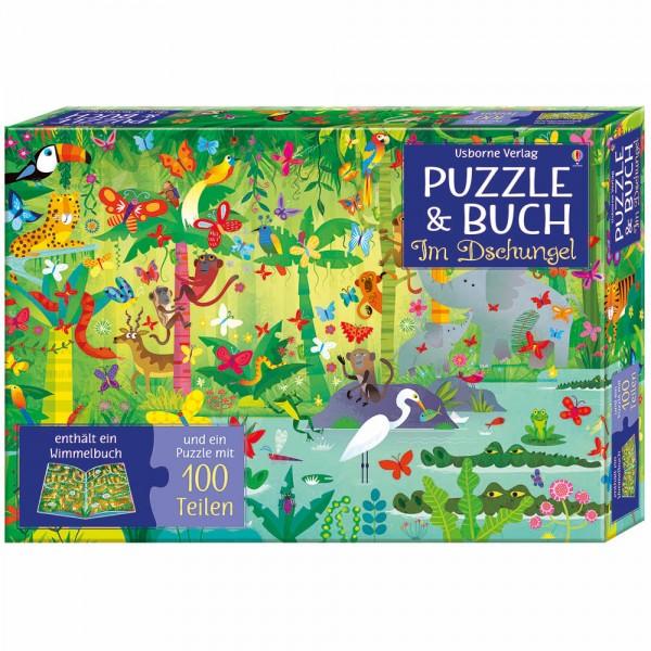 """Puzzle und Buch """"Im Dschungel"""""""