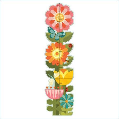 "Wandmeter/Messlatte ""Gartenblumen"""