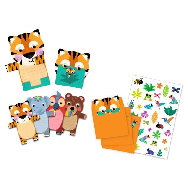 """8-Einladungskarten """"Wilde Tierchen"""""""