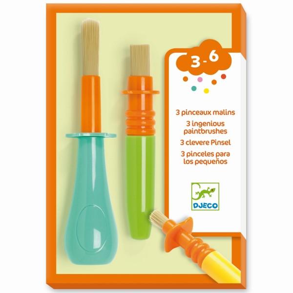 3 clevere Pinsel für Kleinkinder 3-6 J