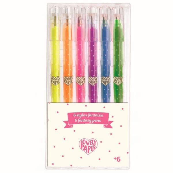 """6 Stifte """"Neon-Gel"""" Lovely Paper"""