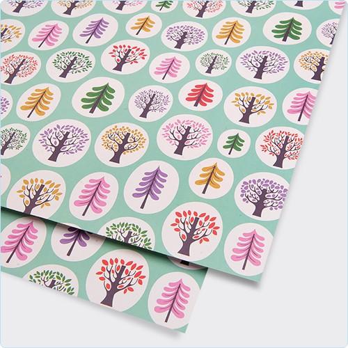 """Geschenkpapier """"Bäume"""" Helen Dardik"""