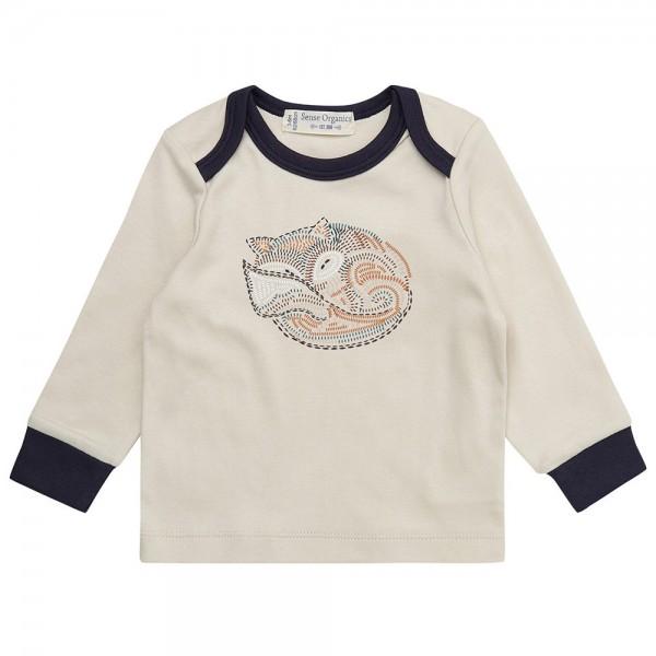 """Bio Baby-Shirt """"Fuchs"""" ecru"""