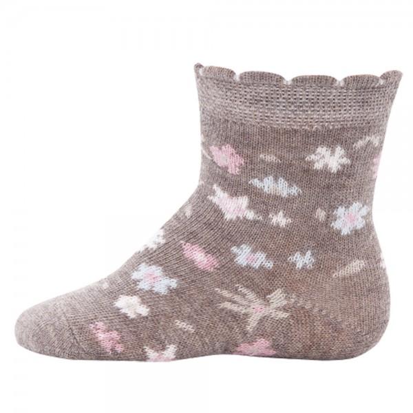 """Socken """"Blumen"""" latte"""
