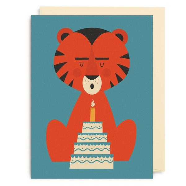 "Kleine Klappkarte ""Birthday Cake Tiger"" Dawid Ryski"