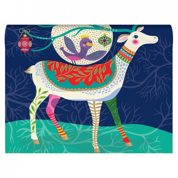 "Geschenkpapier ""Folksy Reindeer"" 2-seitig"