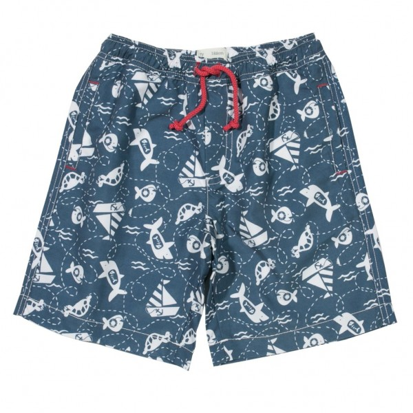"Bade-Shorts ""Boote & Fische"""