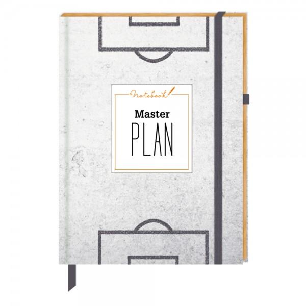 "Notizbuch ""Masterplan - Fußball"" Urban&Gray"