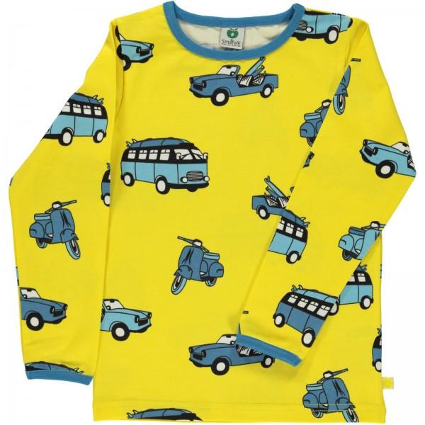 "Bio-Shirt ""Retrofahrzeuge"" gelb"