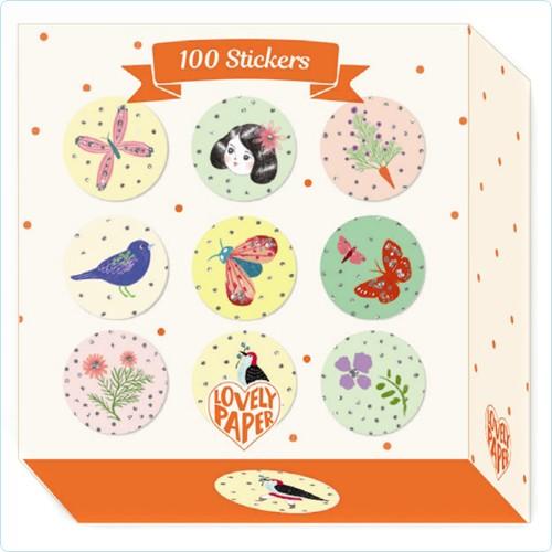 """100 Sticker """"Chichi"""" Glanzfolie"""