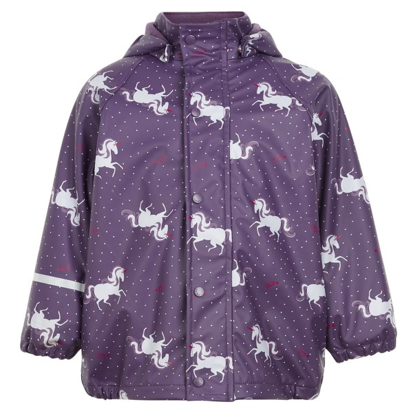 "Regenjacke Fleece-Futter ""Einhorn"" purple"