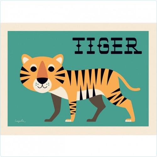 """Poster """"Curious Tiger"""" Ingela P Arrhenius"""