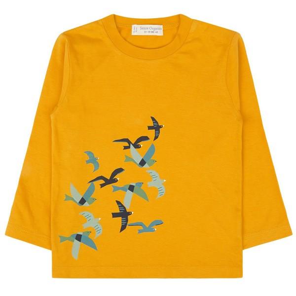 "Bio Shirt ""Vögel"" gelb"