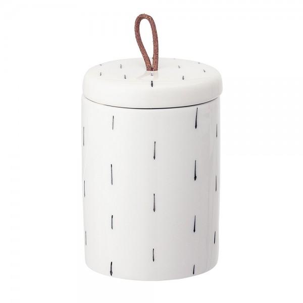 """Keramik-Dose mit Deckel """"Striche"""" ø 7,5 cm"""