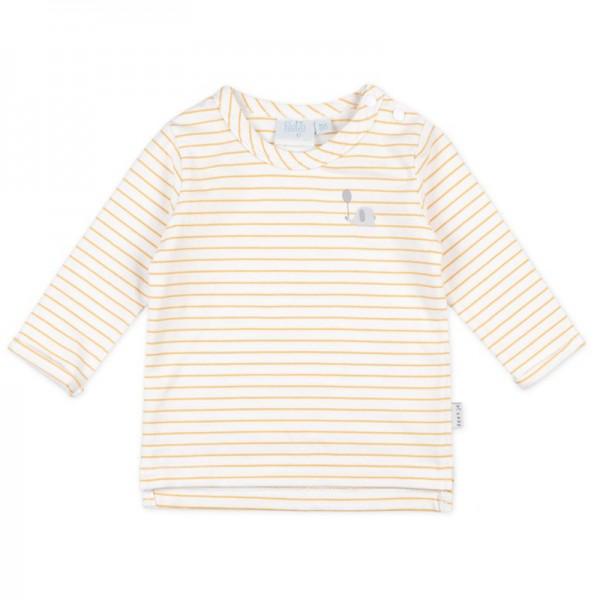 """Bio Baby-Shirt """"Ringel"""" weiß/gelb"""