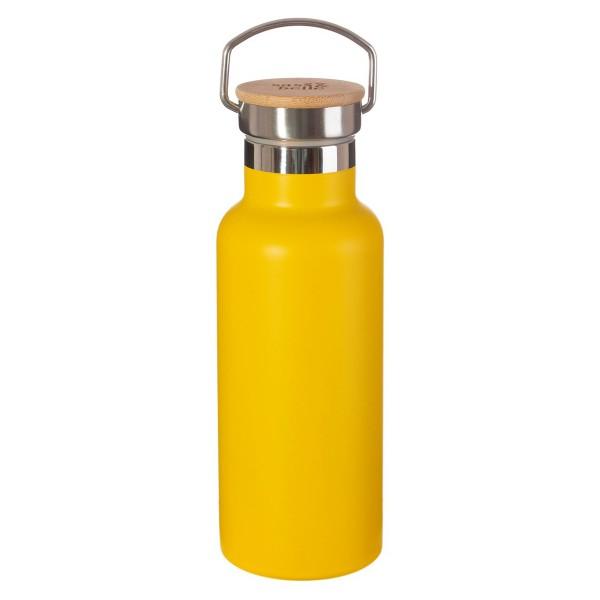 Edelstahl-Trinkflasche gelb