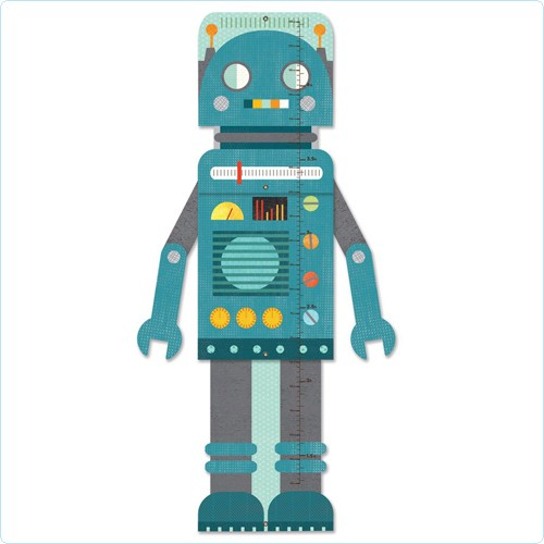"Wandmeter/Messlatte ""Roboter"""