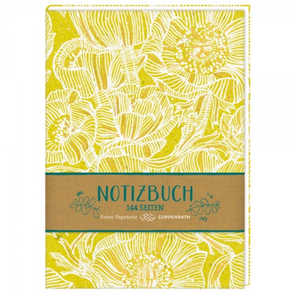 "Hardcover-Notizbuch Stoffeinband ""All about yellow"""