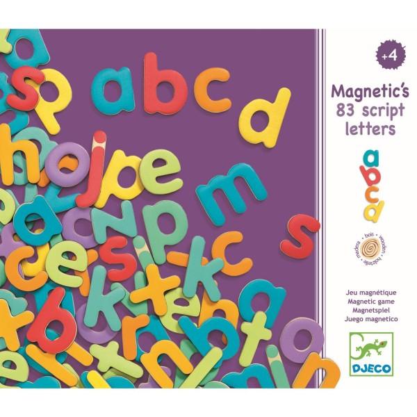 """Holz-Magnete """"83 Kleinbuchstaben"""""""