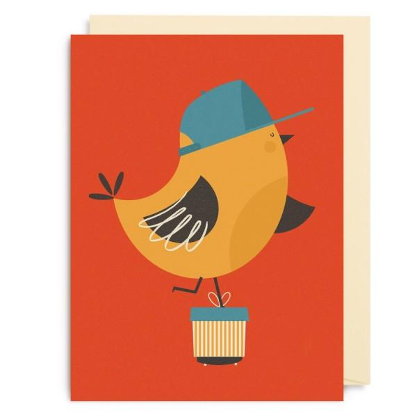 "Kleine Klappkarte ""Skating Bird"" Dawid Ryski"