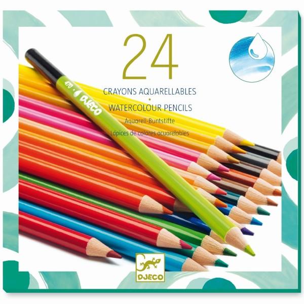 "24 Buntstifte ""Aquarell"" wasservermalbar"