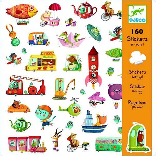 """160 Sticker/Aufkleber """"Unterwegs"""""""