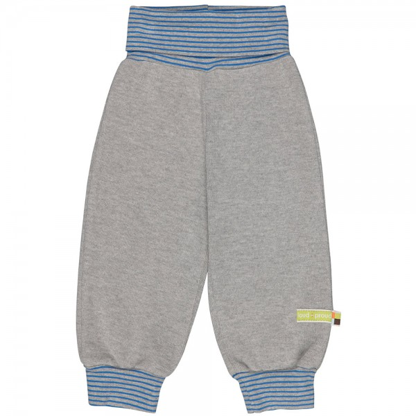 Interlock-Bündchenhose grey