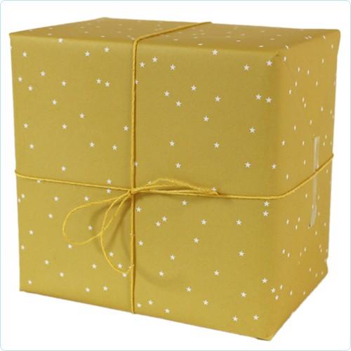 """Geschenkpapier """"Sternchen"""" gelb"""