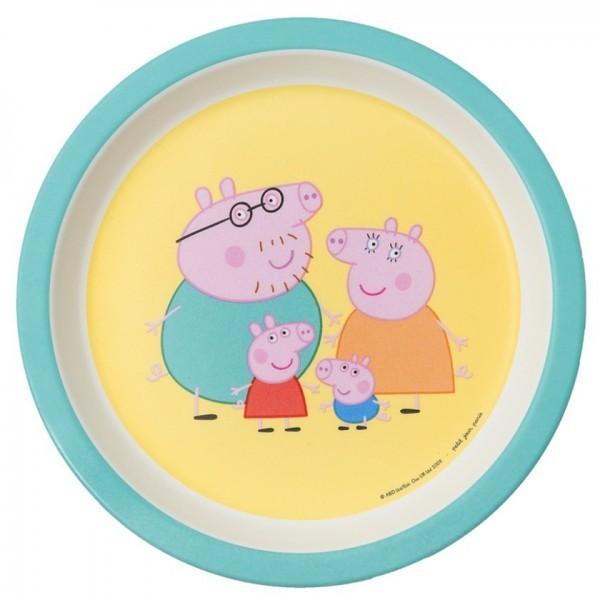 "Melamin-Teller klein Rand ""Peppa Pig"" Eltern"