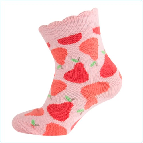 Melton Mädchen-Socken Birnen soft pink