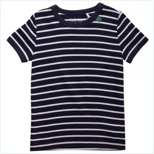 """Kurzarm-Shirt MINI """"Streifen navy"""""""