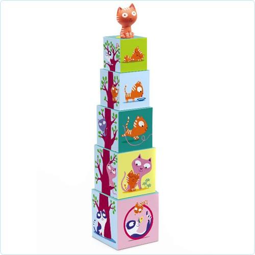 "Stapelturm Spielwürfel mit Tier ""Catibloc"""